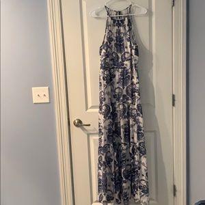 Sleeveless polyester slip dress.